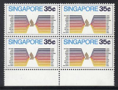 Singapore 1973 Aviation Sg198 U/m Block Of 4
