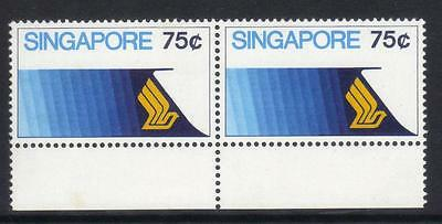 Singapore 1973 Aviation Sg199 U/m Pair