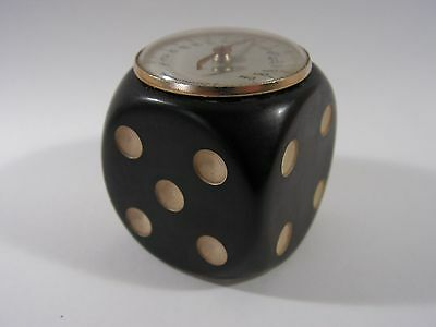 Novelty Vintage French Bakelite Dice Thermometer Paperweight