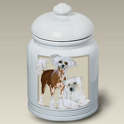 Ceramic Treat Cookie Jar - Chinese Crested (PS) 52069
