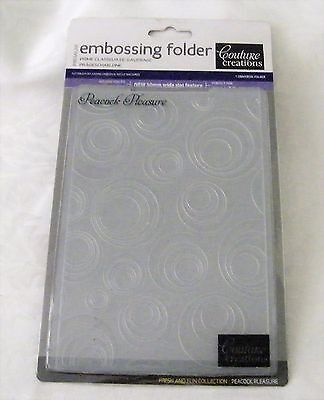 Couture Creations Embossing Folder Peacock Pleasure New PLUS 2 FREE Journal Pens