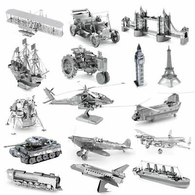 Metal Earth 3D Laser Cut Model Kits Models Construction Kit Steel Miniatures