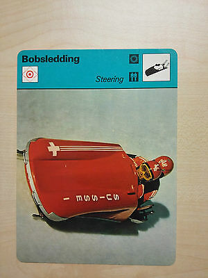 BOBSLEDDING - Steering- Sportscaster Rencontre Card