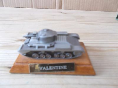 1.76 Scale Pewter Model Of A Valentine Tank -Royal Hampshire Fine Art Sculpture