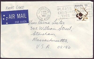 1983 COMMERCIAL COVER TO USA WITH SOLO 45c BUTTERFLY (RU3091)