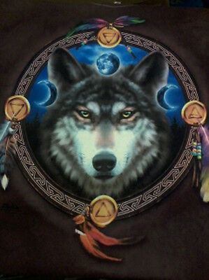 Unisex Jewel Wolf Moon Tee Size 2XL