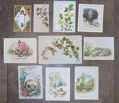 C5230 10 Victorian Greetings Cards: Mixed Subjects