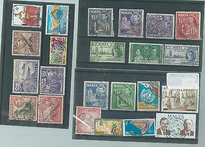 Malta Used Stamp Collection