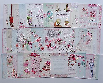 Hunkydory The Second Little Book of Poetry & Verses Toppers x 24 Sheets