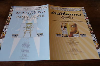 MADONNA - Plan média / Press kit !!! GHV2 - IMMACULATE COLLECTION !!!