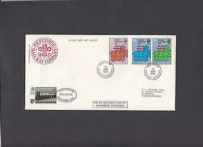1973 EEC Festiniog Railway First Day Cover. 1 of only 2 covers.