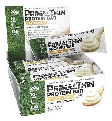 Julian Bakery PrimalThin Paleo Protein Bar Sweet Cream - 12 Bars Non-GMO