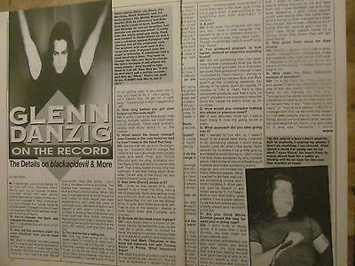 Danzig, Three Page Vintage Clipping