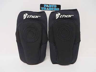 Thor Static Black MX Motocross Elbow Guard Adult Small / Medium