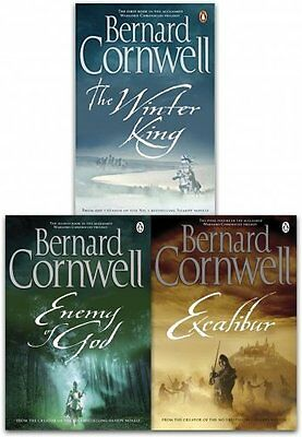 Bernard Cornwell Warlord Chronicles Collection 3 Books Set Excalibur Brand New