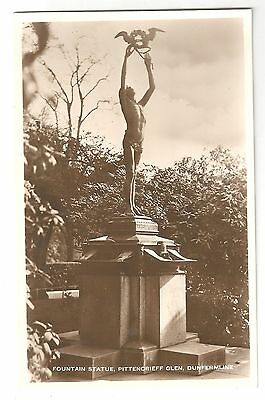 re scotland scottish postcard dunfermline statue
