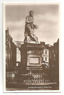 re scotland scottish postcard burns monument dumfries