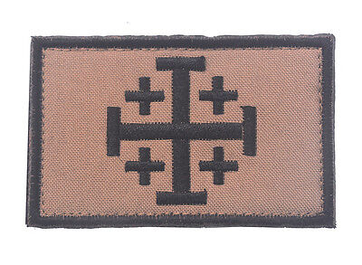 CROSS TEMPLAR CRUSADERS KNIGHTS CHRISTIAN ARMY INSIGNIA HOOK PATCH sh+932