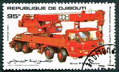 DJIBOUTI 1984 95f SG930 used NG Fire Fighting French PPM rescue crane #W30