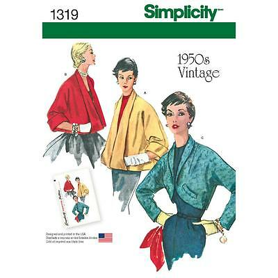SIMPLICITY SEWING PATTERN MISSES' SET OF JACKETS VINTAGE 1950s size 6 - 22 1319