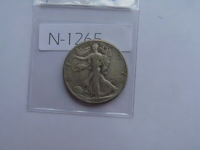 Vintage Usa Coin 1945  50 Cent Silver Value 20.00   N1265