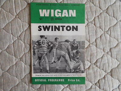 1969/70 Wigan V Swinton Rugby League Signed Match Programme