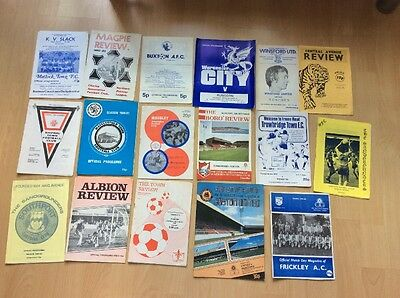 Runcorn Football Club Lot Of 32 Away Programmes Mostly Early 80's