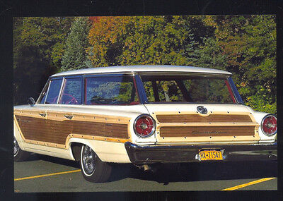 1963 Ford Country Squire Station Wagon Car Dealer Advertising Postcard Copy