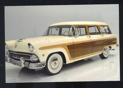 1956 Ford Country Squire Station Wagon Car Dealer Advertising Postcard Copy