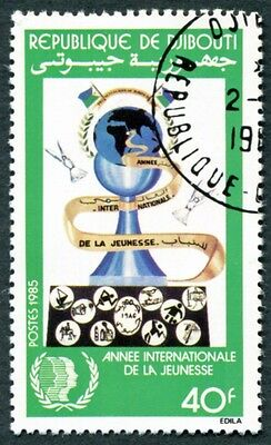 DJIBOUTI 1985 40f SG950 used NG International Youth Year #W30