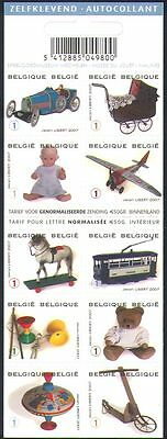 Belgium 2008 Toys/Tram/Teddy Bear/Doll/Racing Car/Plane/Horse 10v bklt (n34292)