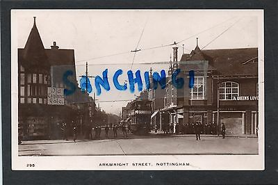 Nottingham Arkwright Street & Tram 118 , Cinema Or Theatre On Right. Rp C1912