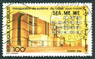 DJIBOUTI 1986 100f SG985 used NG Sea-Me-We Submarine Communications Cable #W30