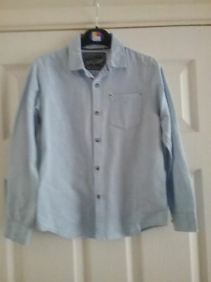 Boys Next Light Blue Long Sleeved Shirt- 8 Years Old