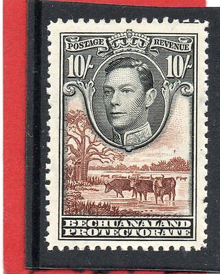 BECHUANALAND GV1 1938 10s black&red-brown sg 128 VLH.Mint