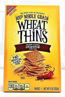 Nabisco Wheat Thins Sweet & Spicy Chipotle Crackers 9 oz
