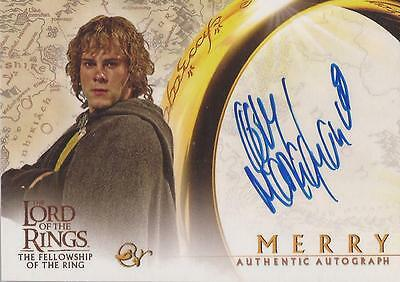"Lord of the Rings Fellowship - Dominic Monaghan ""Merry"" Autograph Card"