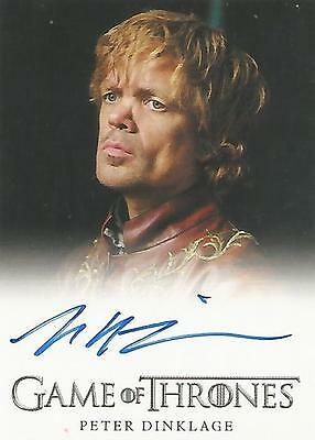 "Game of Thrones Season 2 - Peter Dinklage ""Tyrion Lannister"" Autograph Card"