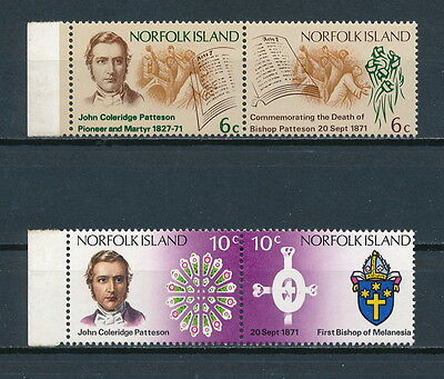 Norfolk Island 144-7 MNH, Bishop Patteson, 1971