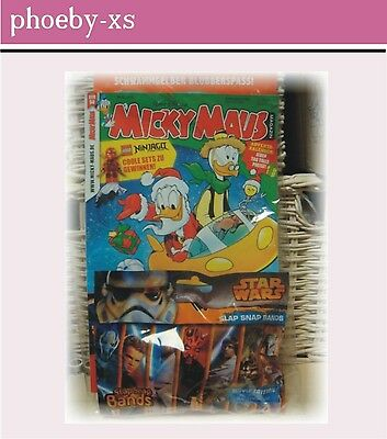 MICKY MAUS Magazin Nr.50*09.12.16 + STAR WARS Slap Snap Bands* Movie Edition