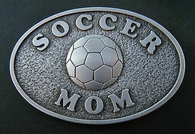 Soccer Mom Sport Soccerball Team Cool Belt Buckle Boucle De Ceinture