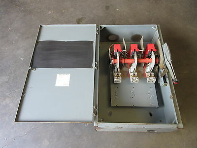 Square D HU366 600 Amp 600V Non-Fused Safety Switch Disconnect Series C1 HU-366