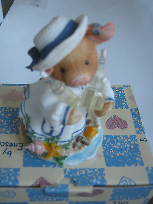 1996 This Little Piggy Squish You Were Here Figurine With Box