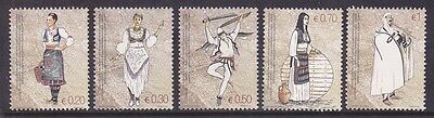 Kosovo 74-78 MNH 2007 Native Women's & Men's Costumes Complete Set Very Fine