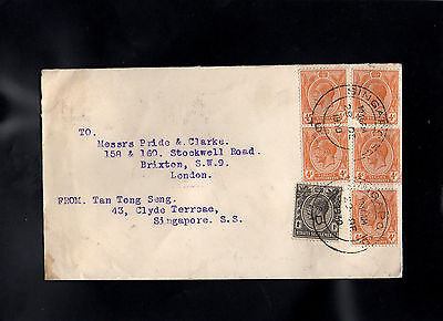 Malaya Straits Settlements 1930 Cover To England - With Singapore Cds Postmarks