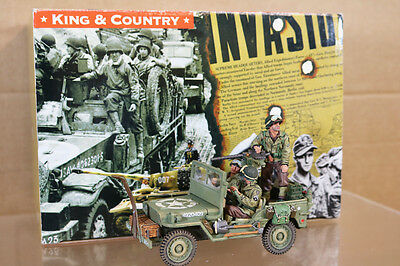 KING & COUNTRY DD075 WWII AMERICAN ARMY PATROL JEEP D DAY LANDINGS nk