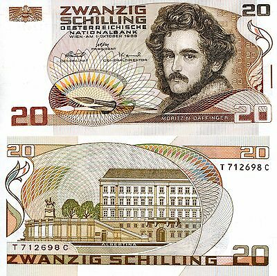 AUSTRIA 20 Shillings Banknote World Paper Money UNC Currency PIck p148 Bill Note