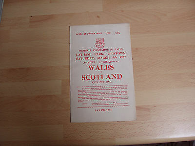 Wales v Scotland 1957 Amateur International at Newton Billy Neil/ Airdrie auto