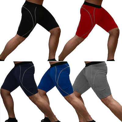 Men's Sports GYM Compression Tights Stretch Base Under Layer Short Pants Pants