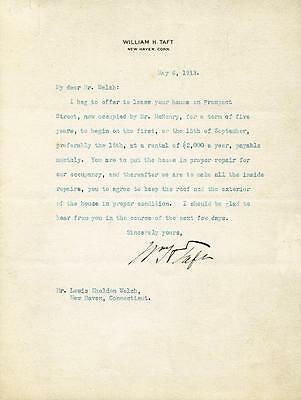 William H. Taft - Typed Letter Signed 05/06/1913